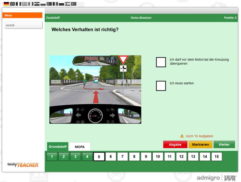 Mofakurs Mofa Fahren Easy Teacher Sekundarstufe Sek.i Verkehrserziehung Mobilitaetsbildung Mobilitaet