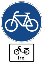 Mofakurs Verkehrszeichen 237 Radweg Zusatzzeichen Mofas Frei