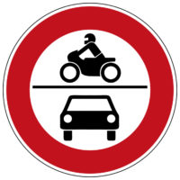 Mofakurs Verkehrszeichen 260 Verbot Fuer Kraftfahrzeuge