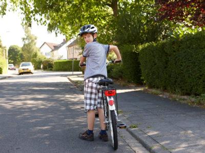 Aufsteigen aufs Fahrrad