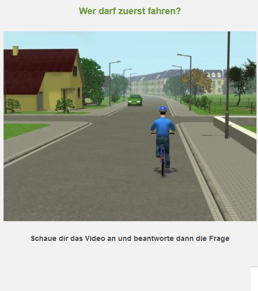 Radfahrausbildung Digitaler Testbogen Rechts Vor Links Grundschule Portal Klasse 4 Verzahnt Lernen 2