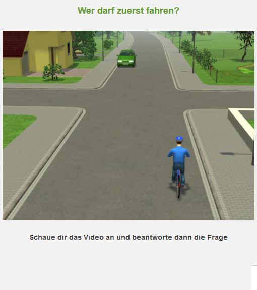 Radfahrausbildung Digitaler Testbogen Rechts Vor Links Grundschule Portal Klasse 4 Verzahnt Lernen 3
