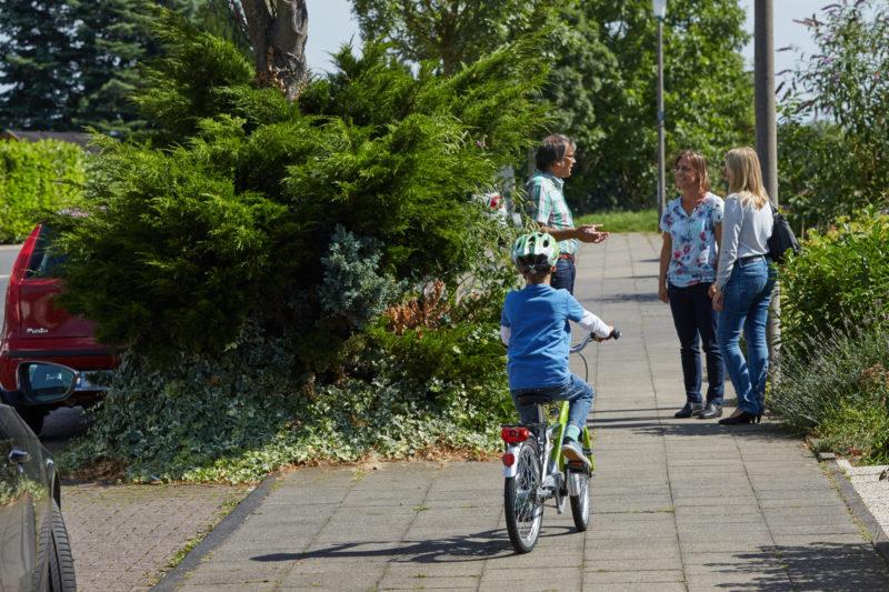 Radfahrausbildung Grundschule Gehweg Straßenverkehr Verkehrserziehung Radfahren