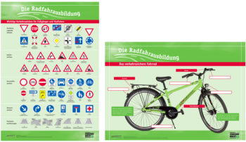 Radfahrausbildung Lehrtafeln Verkehrssicheres Fahrrad Verkehrszeichen Klasse 4 Grundschule