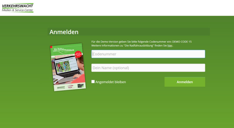 Radfahrausbildung Portal Klasse 4 Startseite Code Demo Code Grundschuleverkehrserziehung