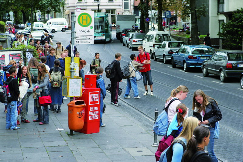 Radfahren Sekundarstufe Bus Bahn Busprojekte Gefahren Mobilitaet Verkehrserziehung Risiko Straßenverkehr
