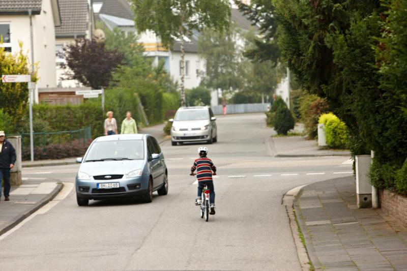 Radschulweg Direktes Linksabbiegent Radweg Wege Gefahren Sekundarstufe Verkehrserziehung Mobilitaetsbildung