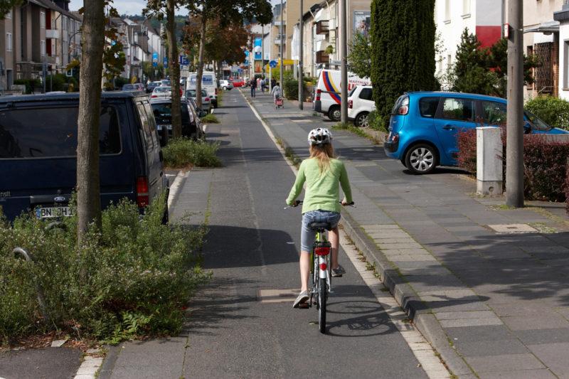 Radschulweg Einfahrt Ausfahrt Radweg Wege Gefahren Sekundarstufe Verkehrserziehung Mobilitaetsbildung