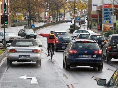 Wege und Gefahren für Radfahrer