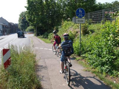 Der Schulweg mit dem Rad