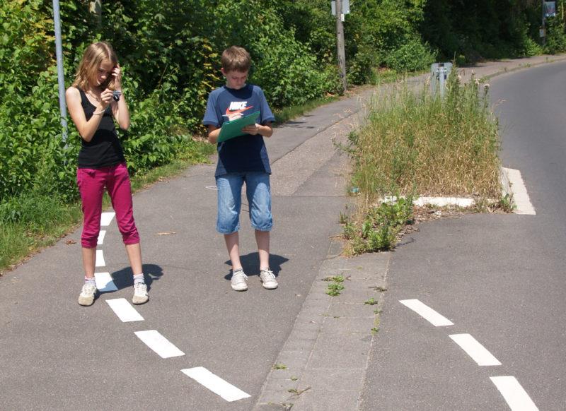 Radschulweg Neuer Schulweg Schulwegbeschreibung Dokumentation Sekundarstufe Verkehrserziehung Mobilitaetsbildung