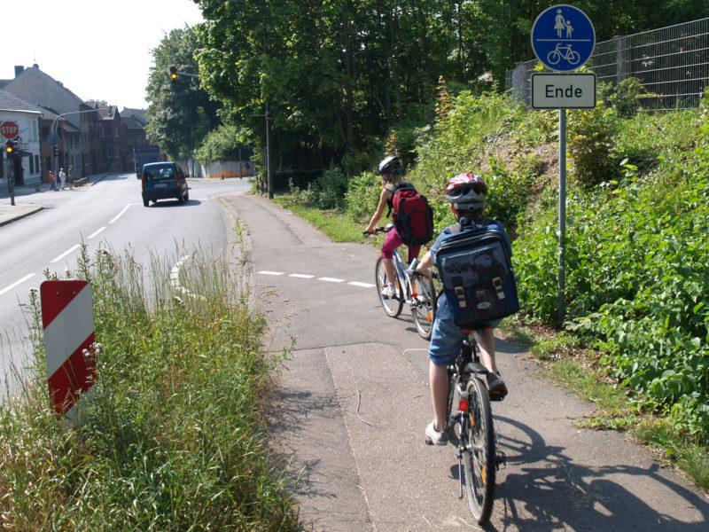 Radschulweg Neuer Schulweg Schulwegbeschreibung Radwegende Sekundarstufe Verkehrserziehung Mobilitaetsbildung