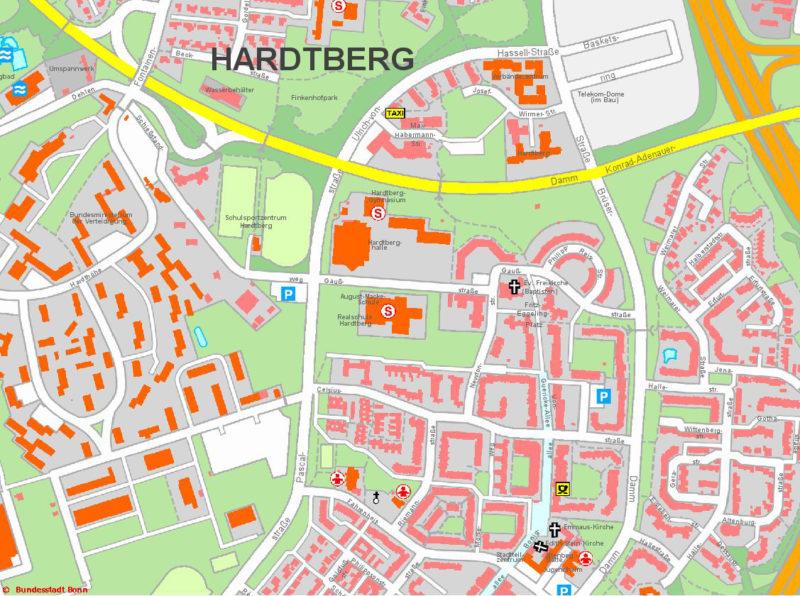 Radschulweg Neuer Schulweg Stadtplan Karten Unfallkarten Sekundarstufe Verkehrserziehung Mobilitaetsbildung