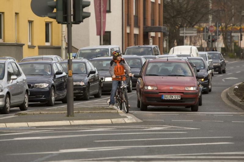 Radschulweg Radfahren Sek.1 Verkehrsmittel Gefahren Sekundarstufe Verkehrserziehung Mobilitaetsbildung