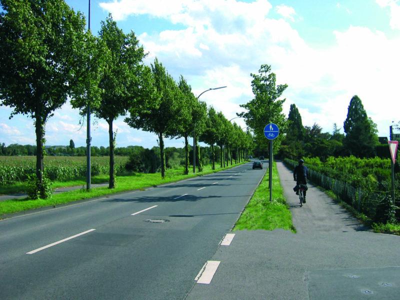 Radschulweg Radwege Land Gemeinsamer Geh Und Radweg Gefahren Sekundarstufe Verkehrserziehung Mobilitaetsbildung