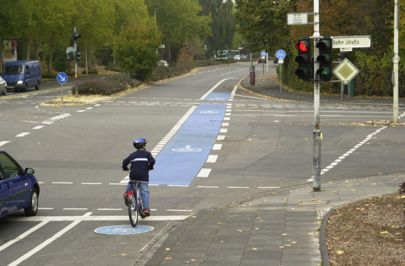 Radschulweg Radwege Stadt Ampel Radfahrer Gefahren Sekundarstufe Verkehrserziehung Mobilitaetsbildung