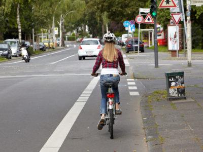 Radwege in der Stadt