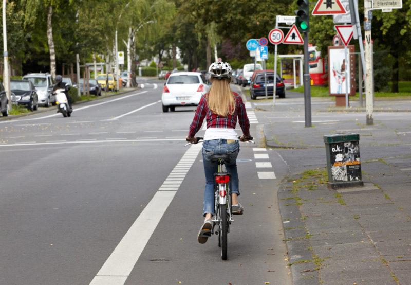 Radschulweg Radwege Stadt Radstreifen Gefahren Sekundarstufe Verkehrserziehung Mobilitaetsbildung