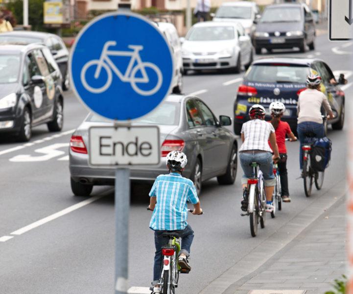 Radschulweg Radwegende Wege Gefahren Sekundarstufe Verkehrserziehung Mobilitaetsbildung