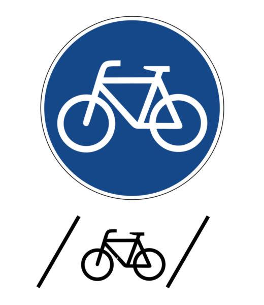 Radschulweg Unterrichtsanregung Radfahrstreifen