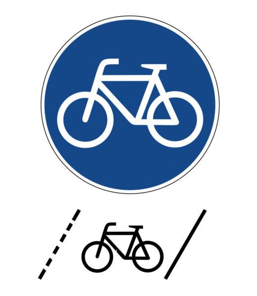 Radschulweg Unterrichtsanregung Schutzstreifen