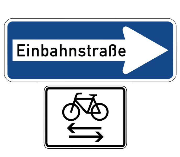 Radschulweg Unterrichtsanregung Verkehrszeichen 220 20 Einbahnstraße Rechts In Beide Richtungen Frei