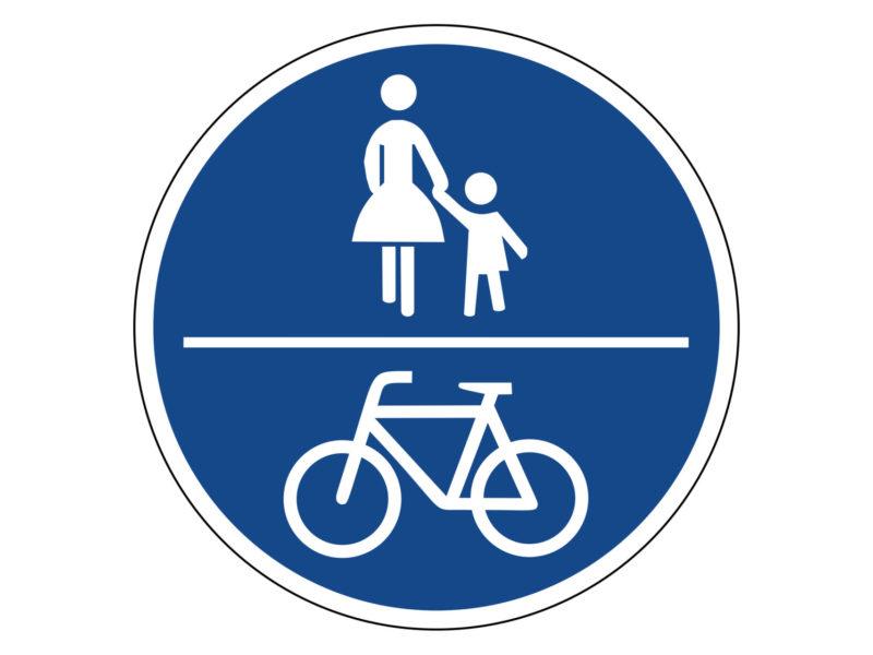 Radschulweg Unterrichtsanregung Verkehrszeichen 240 Gemeinsamer Fuss Und Radweg