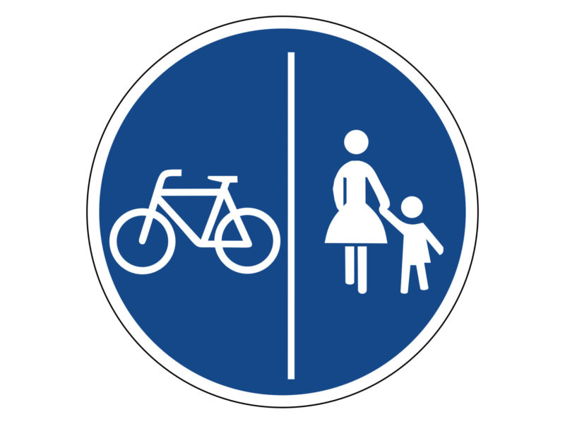 Radschulweg Unterrichtsanregung Verkehrszeichen 241 30 Getrennter Rad Und Fussweg