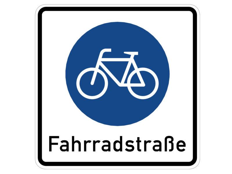 Radschulweg Unterrichtsanregung Verkehrszeichen 244.1 Beginn Einer Fahrradstrasse