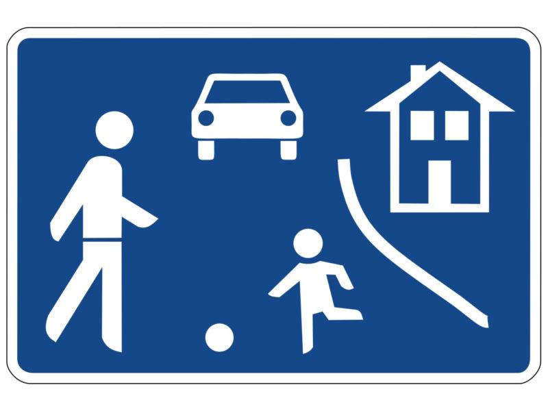 Radschulweg Unterrichtsanregung Verkehrszeichen 325.1 Beginn Eines Verkehrsberuhigten Bereichs