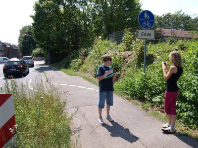 Spot: Schulweg mit Rad