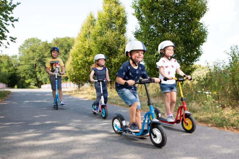 Roller Verkehrserziehung Kinder Balance Gleichgewicht Bewegung Motorik