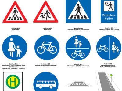 Schülerlotsen Ab Ue 3 2 Verkehrshelfer Ausbildung Übungseinheit 3 Regel Zeichenkenntnisse Verkehrszeichen Lotsen
