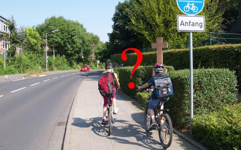Schulweg Grundschule Fahrrad Verkehrssicherheit Entwicklung Mehrfachanforderung