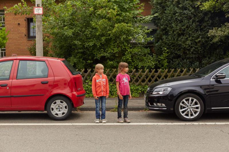 Sehen Straßenverkehr Kinder Grundschule Blickfeld Wahrnehmung Größe Körpergröße