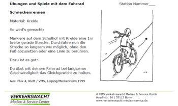 Vms Ab Übungen Und Spiele Mit Dem Fahrrad Stationenkarten