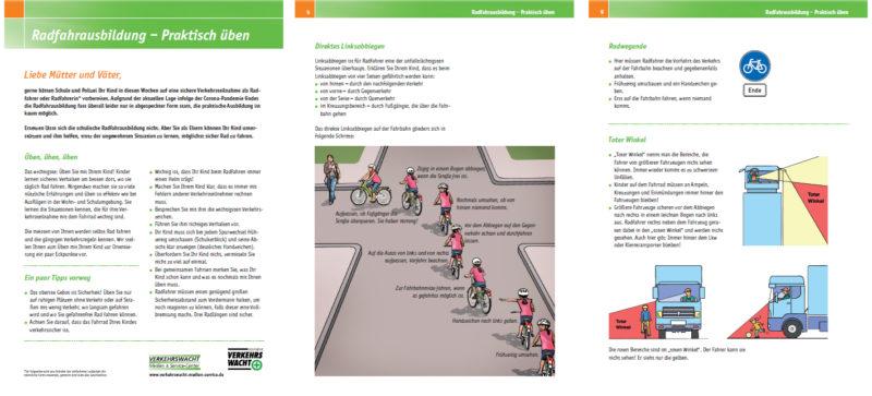 Vms Radfahrausbildung Praktisch Ueben Elterninformation Radfahren Grundschule