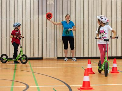 Praktische Vorbereitung auf die Radfahrausbildung Klasse 1 bis 3