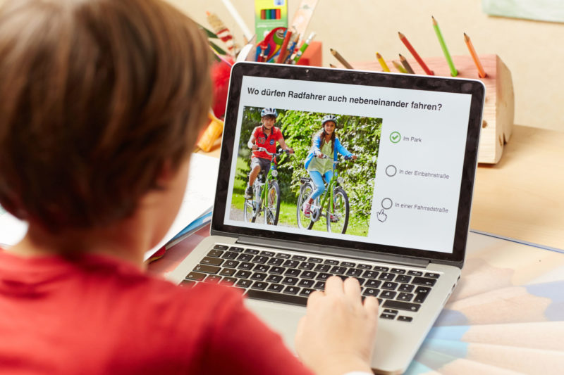Verkehrserziehung Mobilitätsbildung Grundschule Digitales Lernen Radfahrausbildung