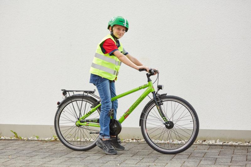Verkehrssicheres Fahrrad Radfahrausbildung Einstellung Sattelhöhe