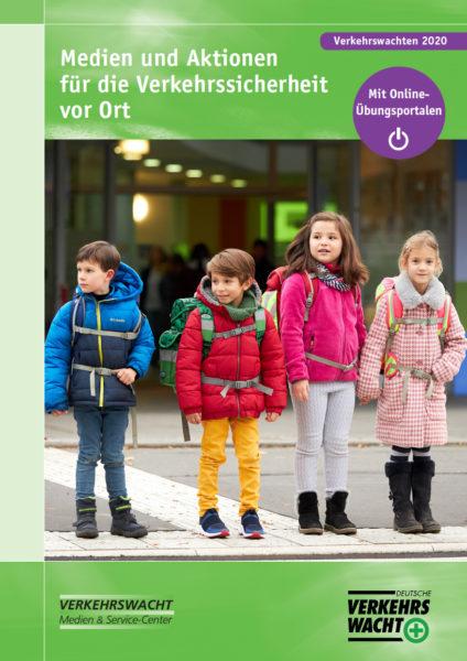 """Der VMS-Katalog für Verkehrswachten 2020 - mit dem neuen Titelfoto von """"Sicher zur Schule""""."""