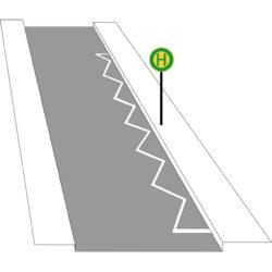 Zeichen 299 Grenzmarkierung Für Halt Oder Parkverbote
