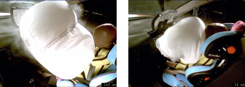 Kindersitz Vorne Crashtest Verkehrssicherheit Auto Kindersrückhaltesystem