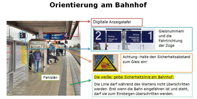 Orientierung Bahnhof