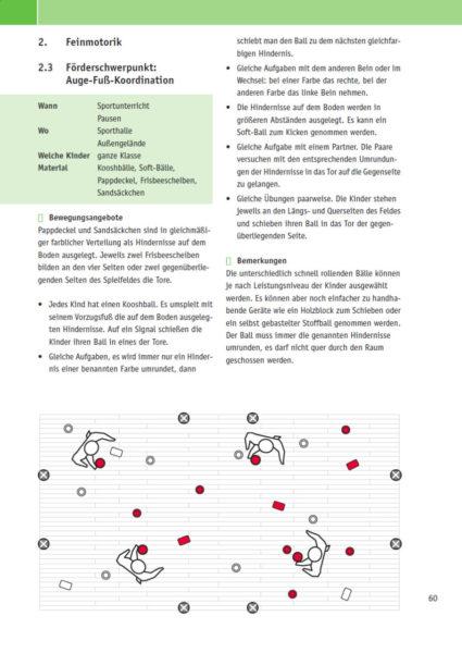 Velofit Handbuch Feinmotorik Auge Fuß Koordination Besipielseite 60