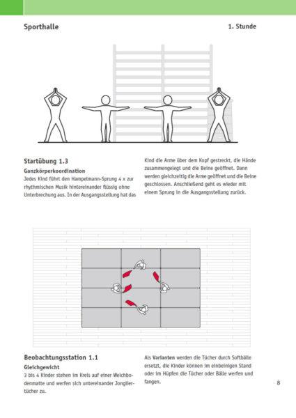 Velofit Handbuch Beobachtungsaufgabe Turnhalle Beispielseite 8